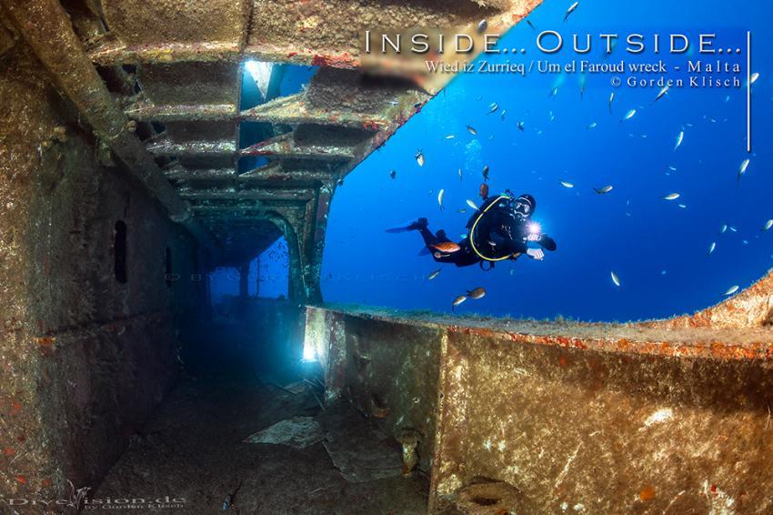 Inside...Outside / Gorden Klisch, Wrack Um El Faroud, Wied iz Zurrieq, Malta, Malta - Hauptinsel
