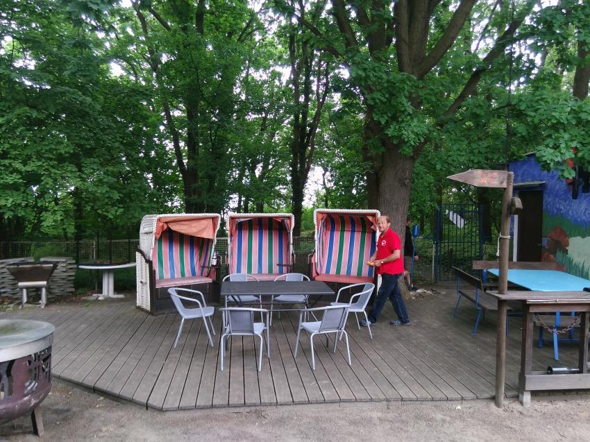 Sitzmöglichkeiten zum Relaxen, Tauchbasis Baltic, Kühlungsborn, Deutschland, Mecklenburg-Vorpommern