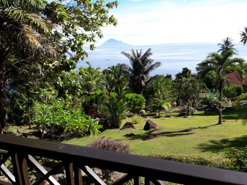 Blick vom Bungalow, Lumbalumba Diving Resort, Manado, Sulawesi, Indonesien, Sulawesi