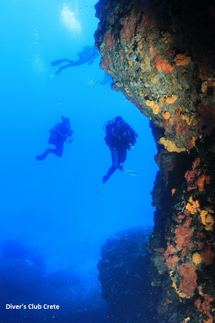 Blue Cave, Cave Diving, Divers Club Crete, Agia Pelagia, Kreta, Griechenland