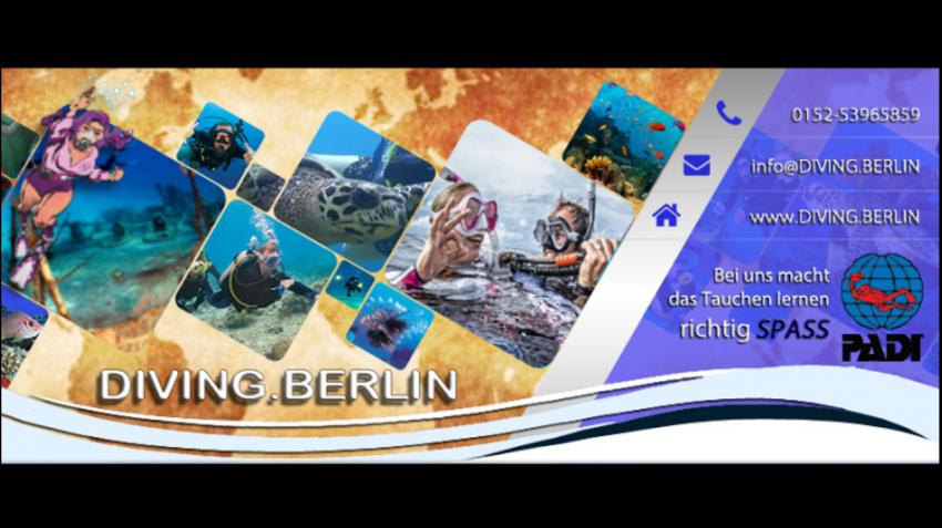 Diving.Berlin - Hier lerne ich tauchen, Tauchen, Diving, Berlin, Tauchausbildung, OWD, Open Water Diver, PADI, Tauchausfahrt, Tauchurlaub, Diving.Berlin, Berlin, Deutschland