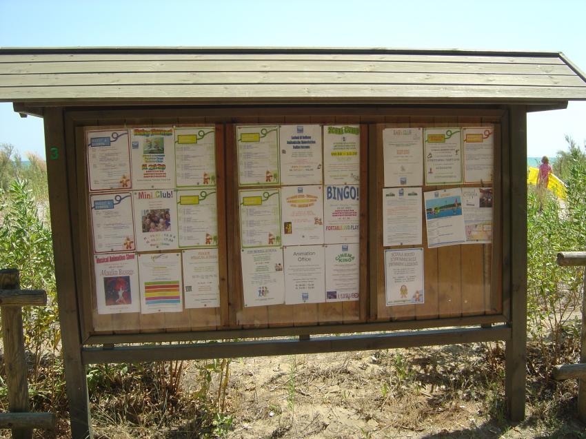 eine der Infotafeln, Camping Union Lido, Cavallino / Venedig, Italien