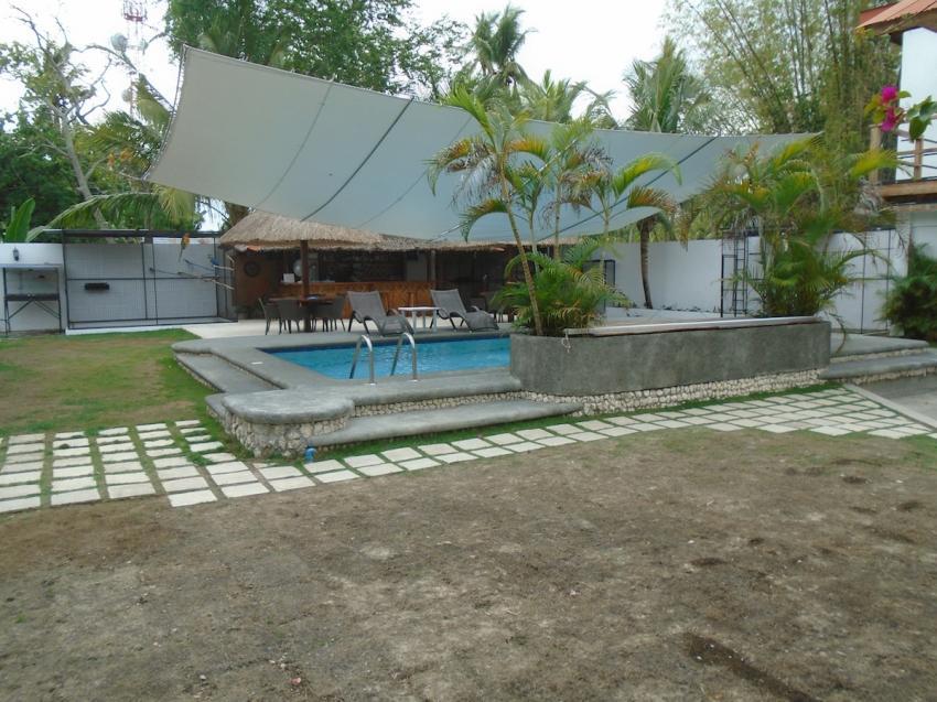 Blick von Zimmern, Parrot Resort Moalboal, Philippinen