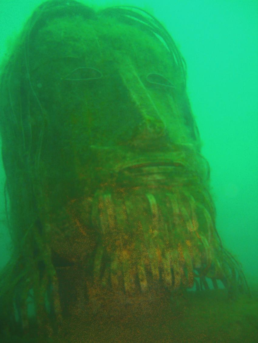 Gardasee allgemein, Gardasee allgemein,Italien,Maske,trüb,Kopf