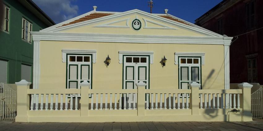 Facade Mgr. Niewindtstraat 20, Poppy Hostel Curacao Otrobanda, Poppy Hostel Curacao, Willemstad, Niederländische Antillen, Curaçao