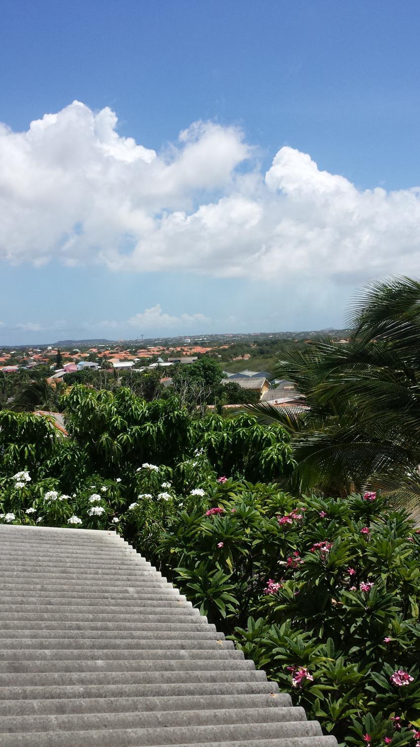 Aussicht auf die Insel 2, Diving Curacao (Kashimiri Apartments), Niederländische Antillen, Curaçao
