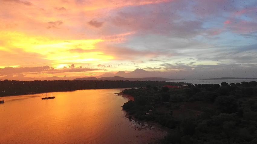 Abendstimmung vor der Tauchbasis, Extra Divers Gawana-Bali, Indonesien, Bali