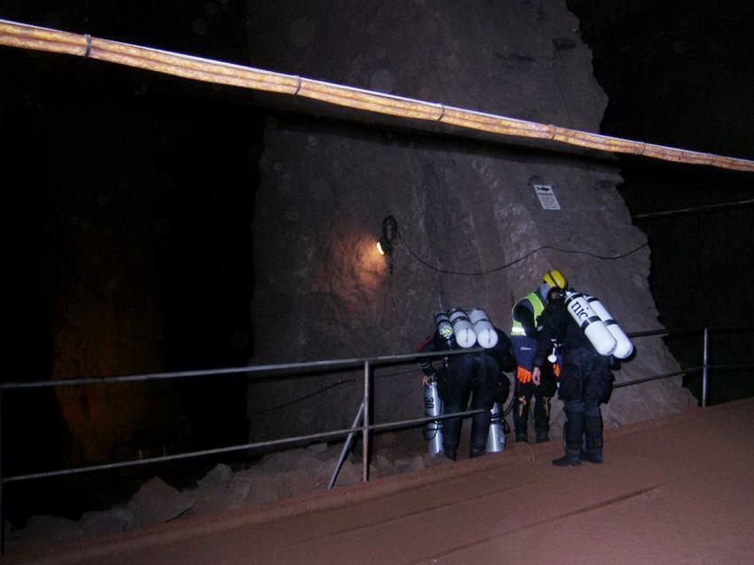 EInstiegszone Besucherbergwerk Kleinenbremen, Besucherbergwerk Kleinenbremen Kreis Porta Westfalica, Deutschland, Nordrhein-Westfalen
