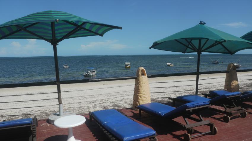 Ausblick in Richtung Indian Ocean, Bamburi Beach Hotel, Kenia