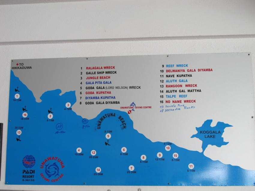 Tauchplätze, Unawatuna Diving Centre, Sri Lanka