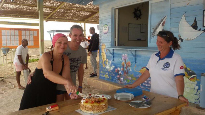Geburtstagstorte für Sandra, Wonderful Dive, Rohanou Resort, El Qusier, Ägypten, El Quseir bis Port Ghalib
