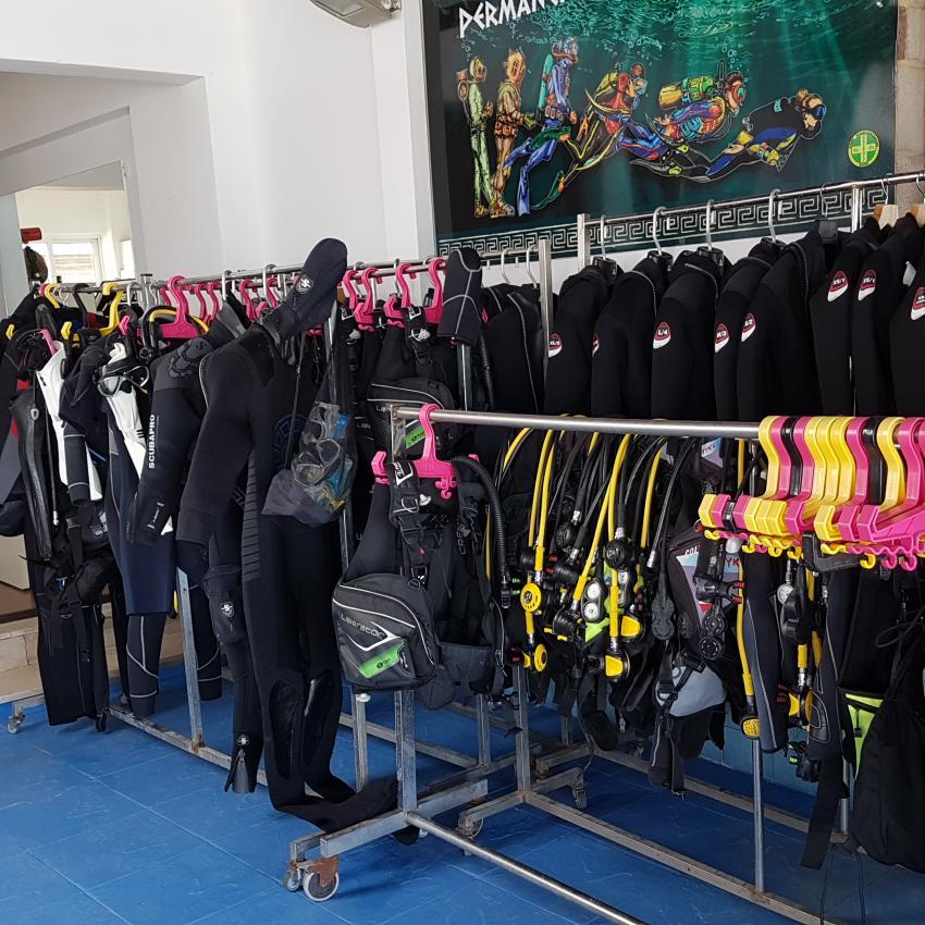 Sehr gute Ausrüstung., Arian Diving Center, Kos, Kardamena, Griechenland