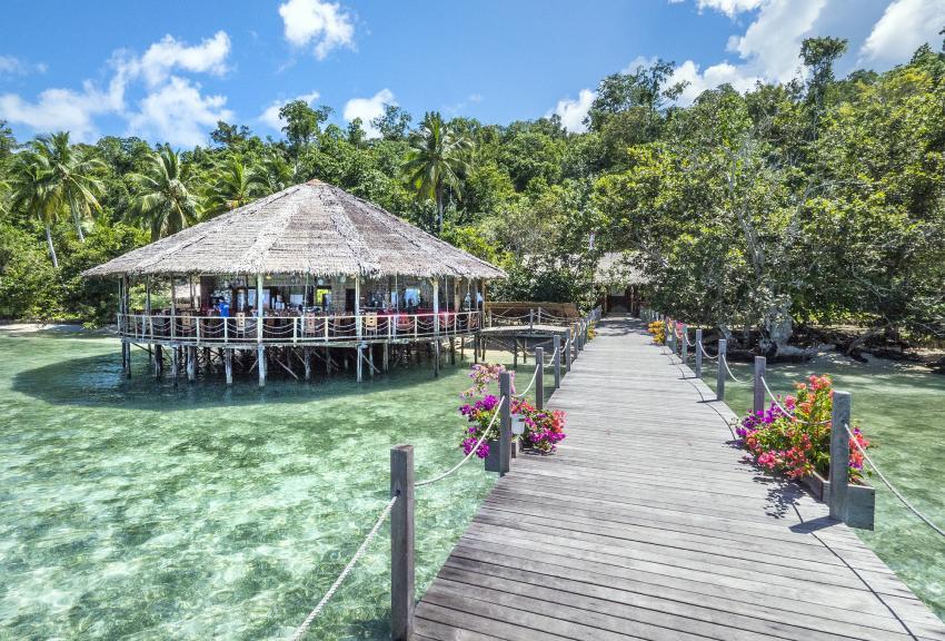 Papua Explorers Restaurant, Tauchen Raja Ampat, Raja Ampat Papua Explorers Resort, Indonesien, Allgemein