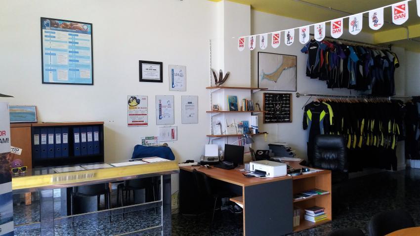 Basis Officebereich, Ocean World Dive Center, Tarajalejo, Fuerteventura, Spanien, Kanaren (Kanarische Inseln)