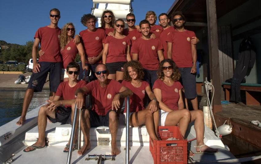 Staff 2016, Orso Diving Club (Sardinien), Italien, Sardinien