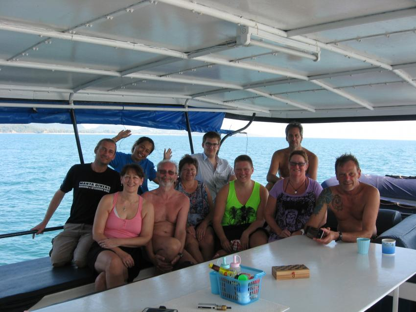 Die Truppe, Lanta Diving Safaris, Thailand, Andamanensee