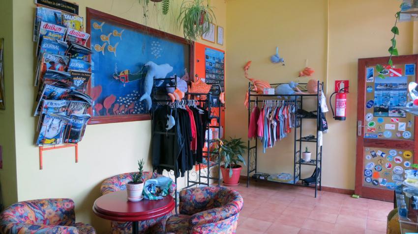 Eingangsbereich Buceo Sub La Palma, Tauchen La Palma, Divecenter, Buceo-Sub La Palma, Spanien, Kanarische Inseln