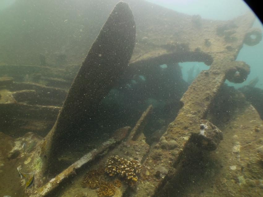 Schraube + Ruder, LSR Diving Passikuda, Sri Lanka