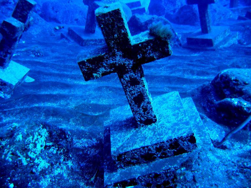 Buceo Sub La Palma, La Palma,Spanien,Kreuz,Grabkreuz,Friedhof