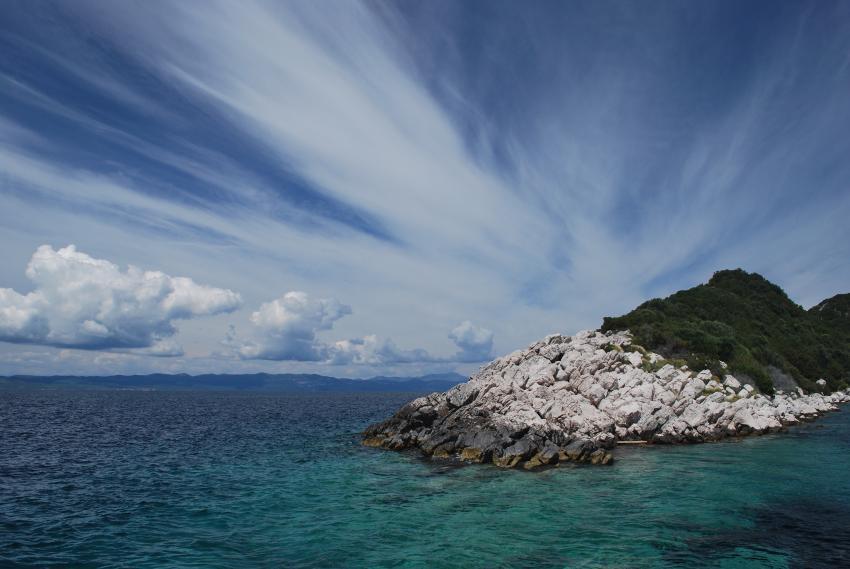 Insel Lastovo, Insel Lastovo,Kroatien,Wolkenstimmung,Ufer,Felsen,Küste