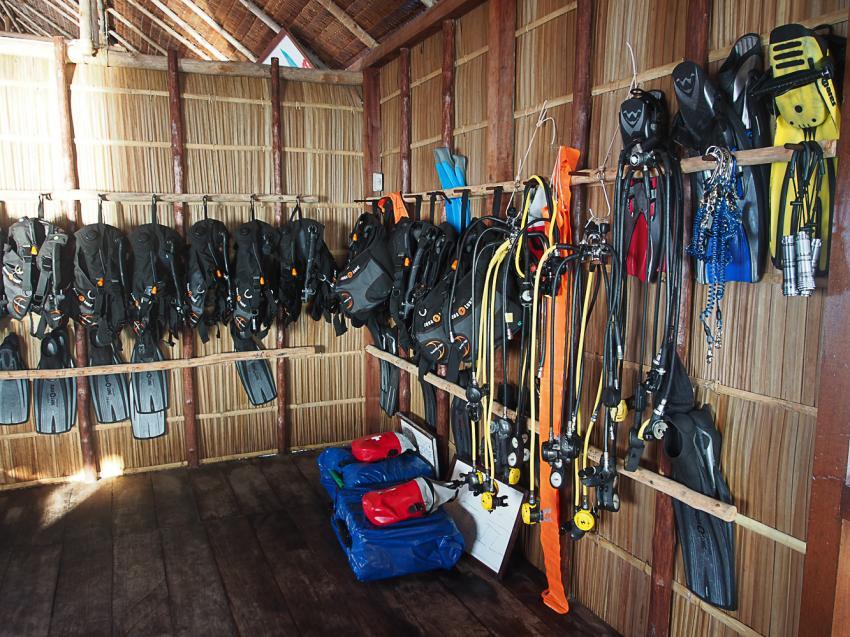 Papua Explorers Leihausrüstung, Tauchen Raja Ampat, Raja Ampat Papua Explorers Resort, Indonesien, Allgemein