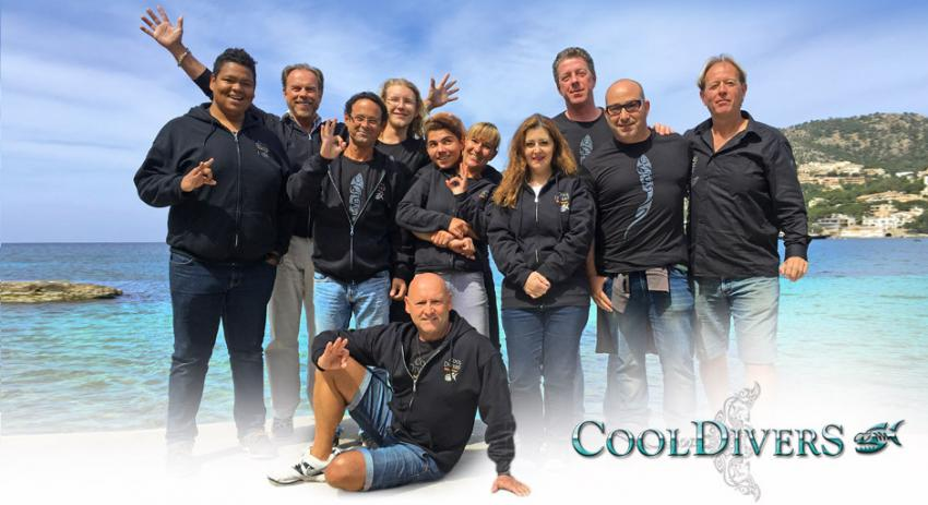 Das Team, Cool Divers, Puerto Andratx, Mallorca, Spanien, Balearen