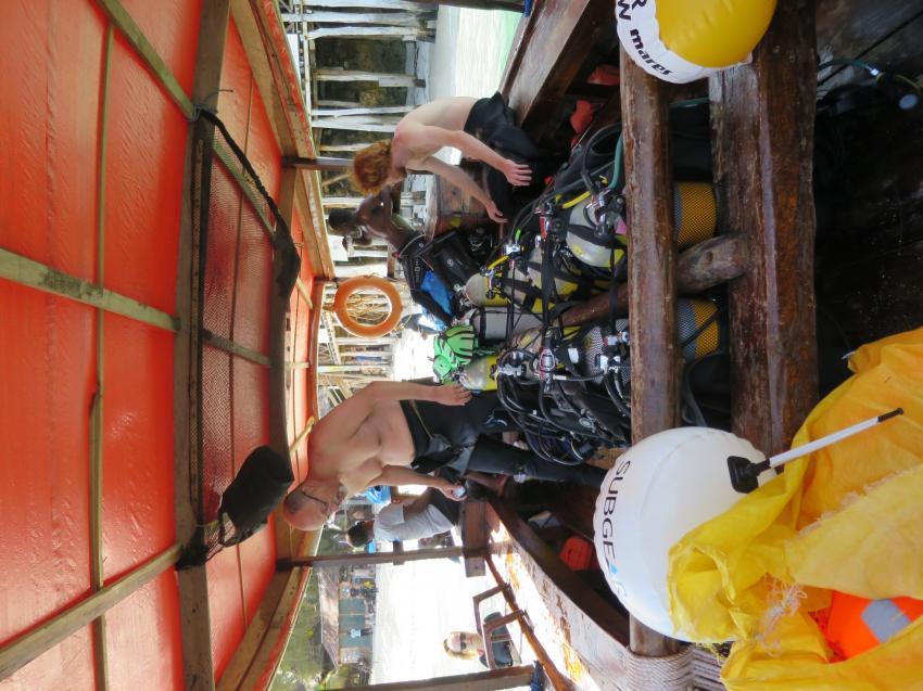Boot bereit für die Ausfahrt, Diving Poseidon, Nungwi - Sansibar, Tansania