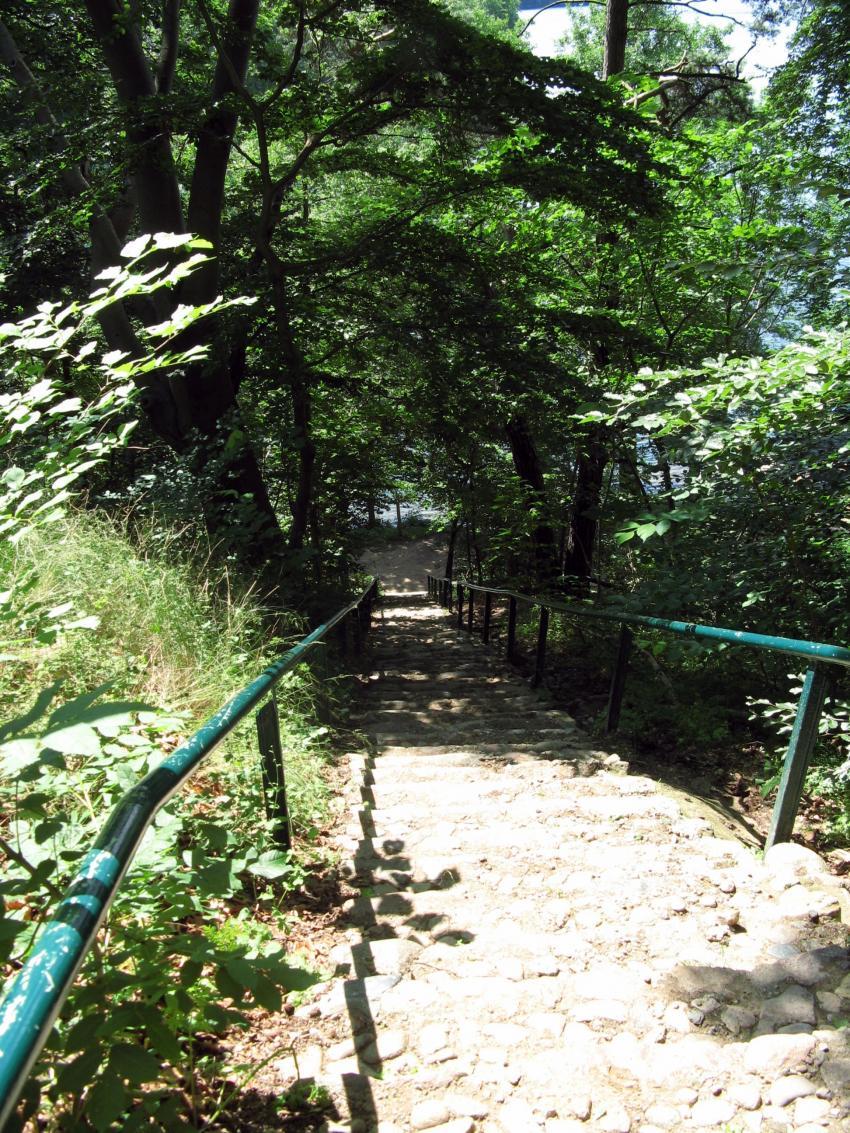 schmaler Luzin, Schmaler Luzin,Feldberger Seenplatte,Mecklenburg-Vorpommern,Deutschland,beschwerlicher Ab-/Aufstieg,viele Treppen