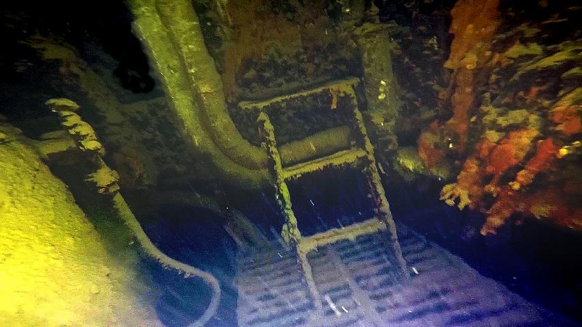 Maschinenraum der Gladiator, Maschinenraum, Wrack der Gladiator, Kroatien