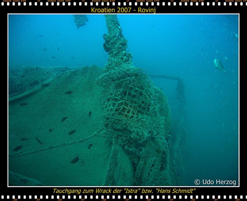 Wrack Istra / Hans Schmidt, Wrack der Istra,Rovinj,Kroatien