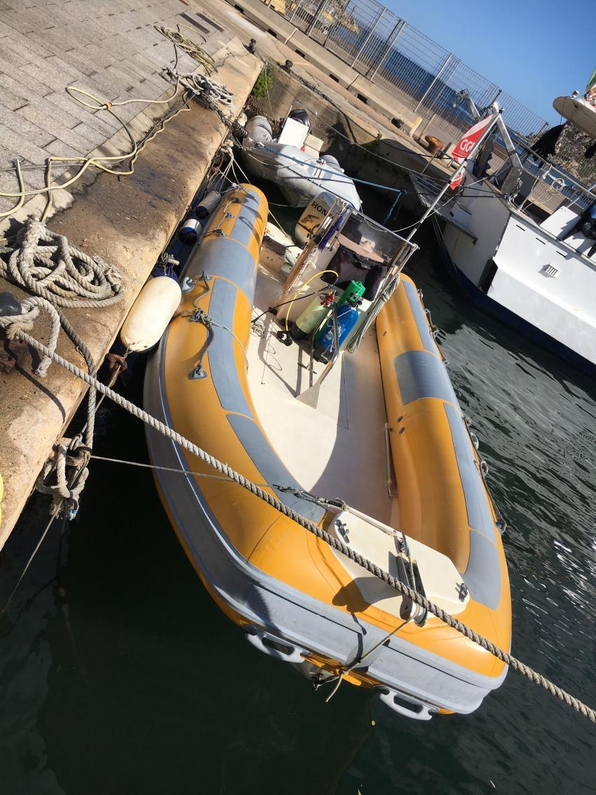 RIB, ORCA Dive Club Sardinien, Santa Teresa di Gallura, Italien, Sardinien