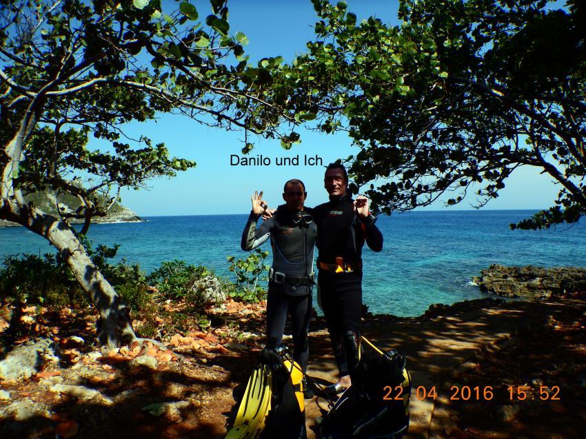 Tauchlehrer Danilo und ich in Bacunayagua, Las Antillas Diving Club, Varadero, Kuba