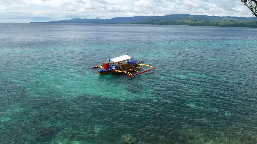 Tauchboot, Sunset Dive Resort, Guindulman/Anda, Bohol, Philippinen