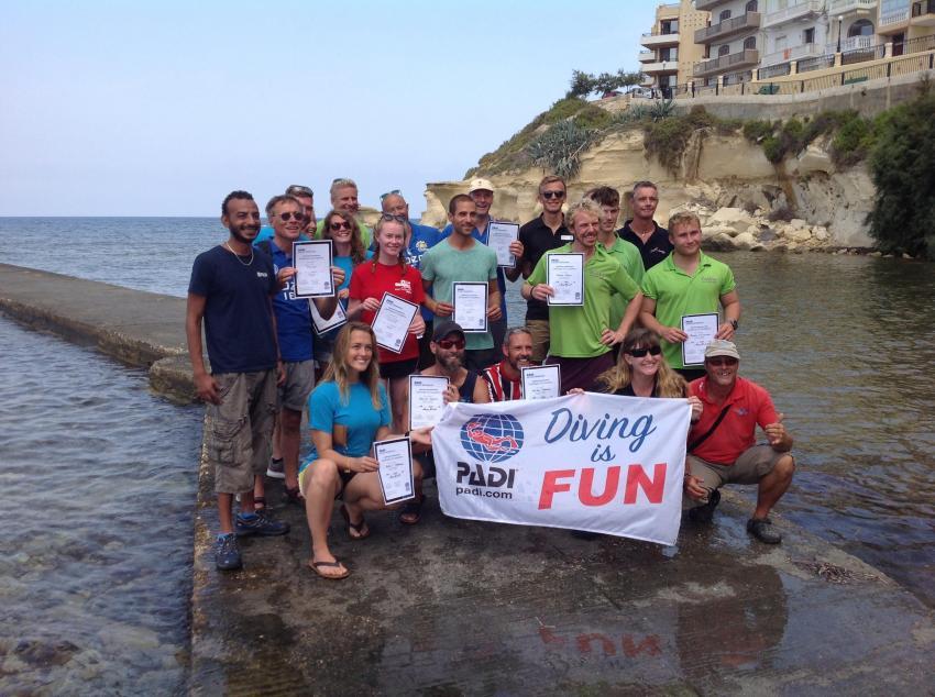 IDC und IE, PADI IE, Tauchlehrer Pruefung, DiveSmart Gozo, Malta, Gozo