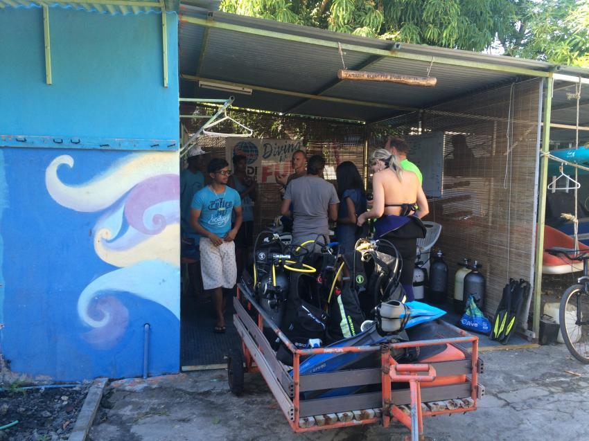 Am Tauchcenter, Tamarin Ocean Pro Diving Center, Tamarin Bay, Mauritius