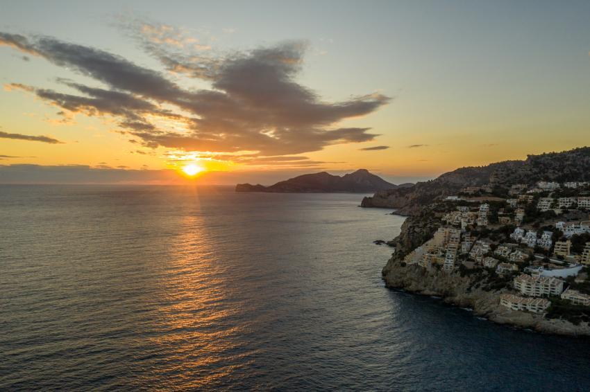 Sonnenuntergang Port d'Andratx, diving Dragonera, Port d'Andratx, Spanien, Balearen