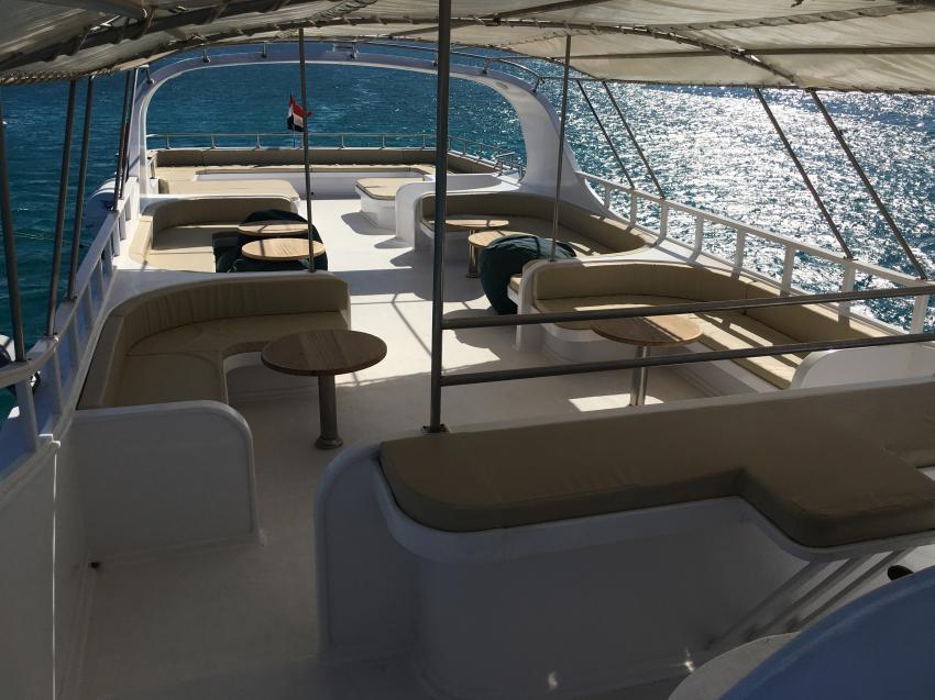 SimSim Dive großes Sonnendeck, Ägypten, Hurghada, Tauchsafaris, Tauchen, Salon, Angebote, Rotes Meer, SimSim, Red Sea, SimSim Dive