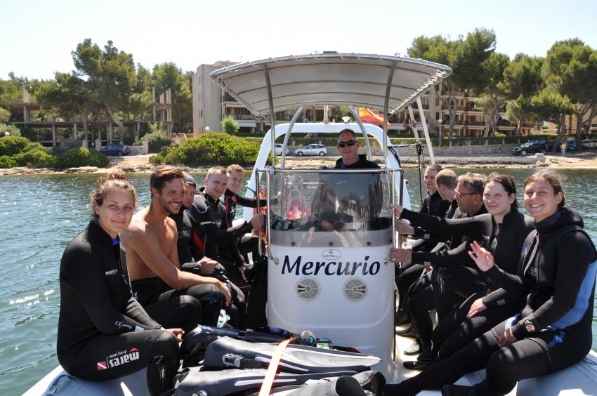 East Coast Divers, Team und Gäste, Porto Colom, Mallorca