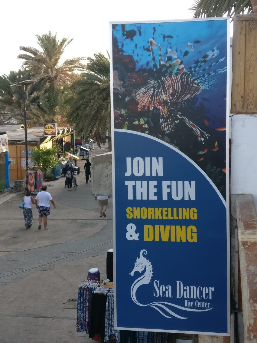 Blick auf die Promenade , Sea Dancer Dive Center, Dahab, Ägypten, Sinai-Nord ab Dahab