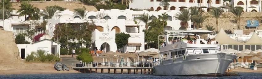 eigener Bootsanlage Steg, Sheikh Coast Diving Center, Sharm el Sheikh, Ägypten, Sinai-Süd bis Nabq
