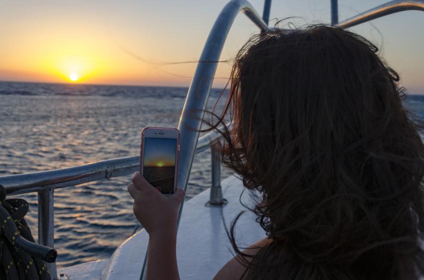 Sonnenuntergang auf der SimSim Dive , SimSim Dive, Ägypten, Hurghada