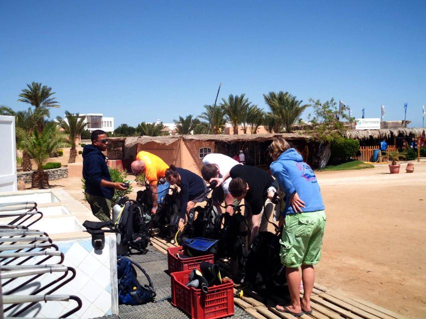 Course preperation, Coraya Divers, Club Paradisio, El Gouna, Ägypten, Hurghada