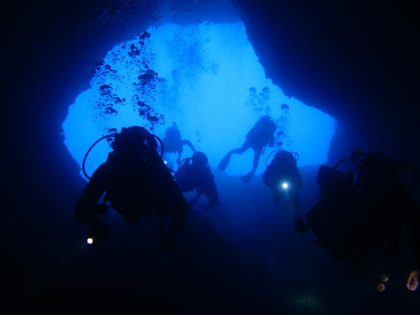 Entrance elephant cave, Evelin Divers, Rethymon - Kreta, Griechenland