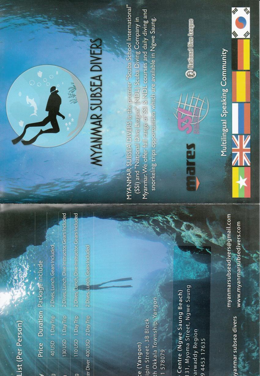 Prospekt 1, Myanmar Subsea Divers, Myanmar