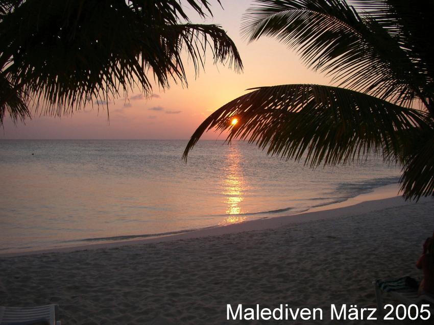 Süd-Male-Atoll, Süd-Male-Atoll,Malediven,Sonnenuntergang
