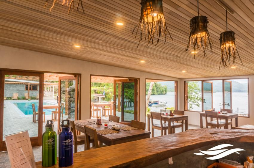 Thalassa Dive resort Lembeh Restaurant & Bar, Thalassa, Manado, Nord-Sulawesi, Indonesien, Sulawesi