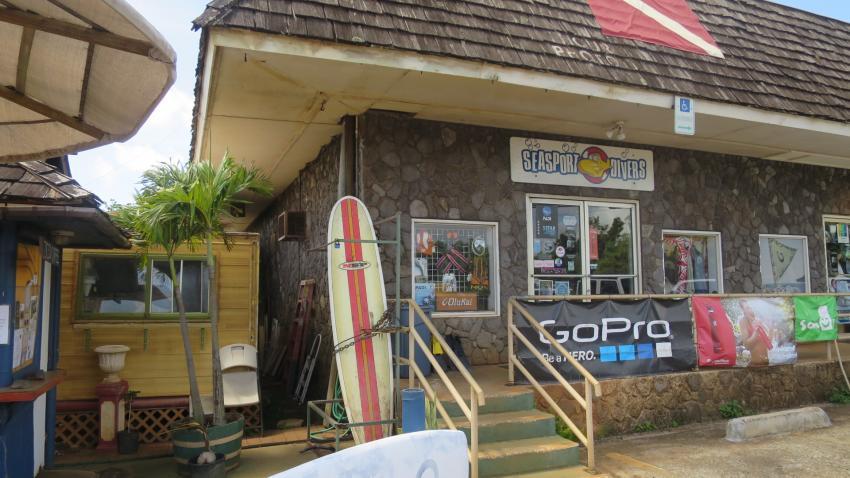...einfach zu finden..., Seasport Divers, Poipu, Kauai, USA, Hawaii
