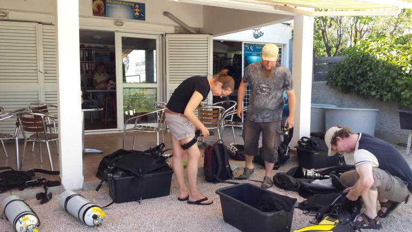 Sidemount, Najada diving, Murter, Kroatien