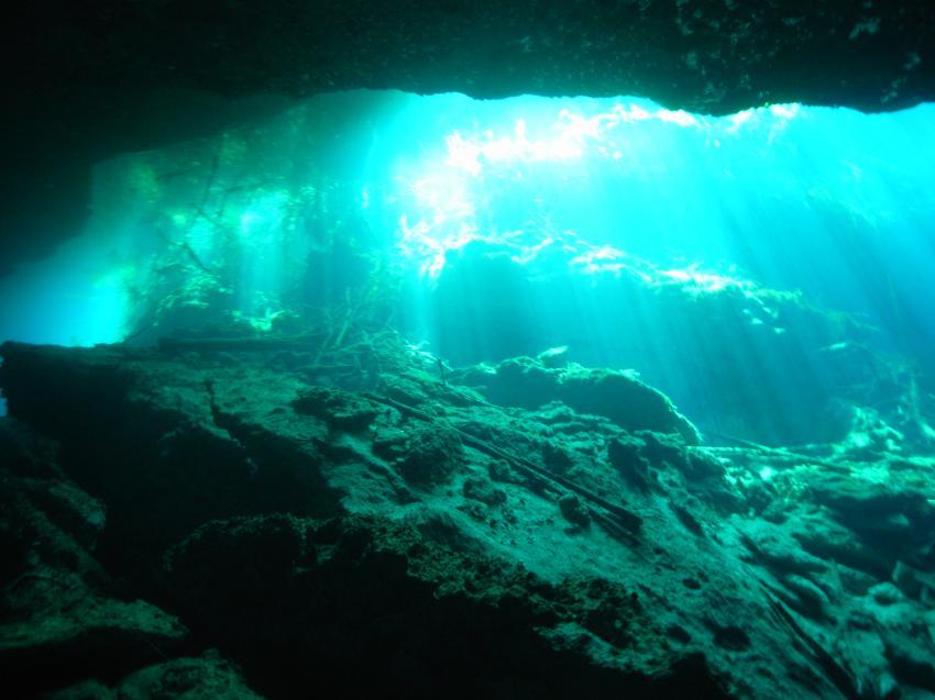 Leichteinfall im Höhleneingang