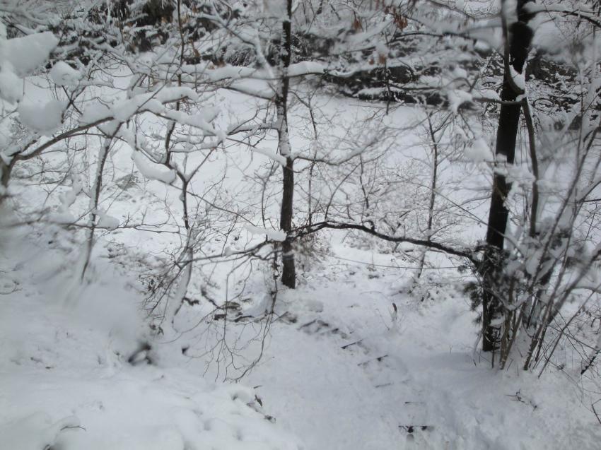 Bei Eis und Schnee, Steinbruch Remshagen,Nordrhein-Westfalen,Deutschland,Winter,Schnee